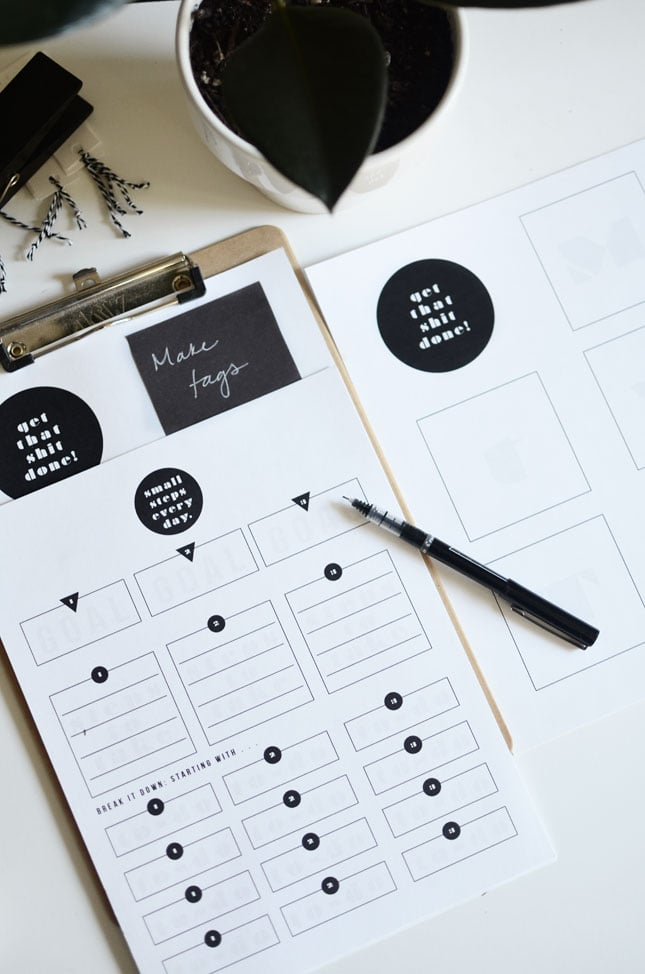 Download: The Plumed Nest Printable Goal Sheet