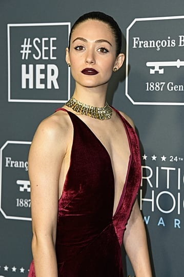 Emmy Rossum Hair at the 2019 Critics Choice Awards
