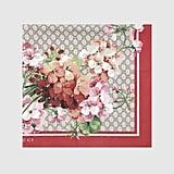 Gucci GG Blooms Print Silk Scarf ($465)