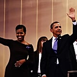 The first couple were celebrating MLK day.