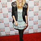 It was all about the feathers for the 2009 Elle Style Awards in London.