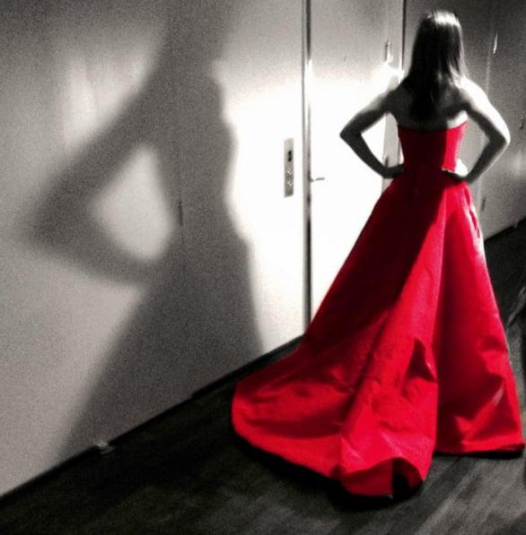 Justin Theroux's Instagram of Jennifer Aniston's Dress