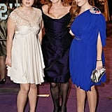 Eugenie and Beatrice joined their mom at the London premiere of The Young Victoria in 2009.