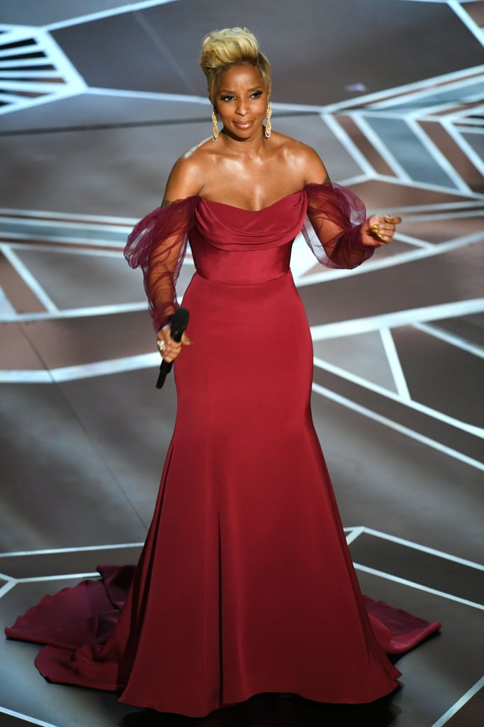 Mary J. Blige Performance Dress at the Oscars 2018