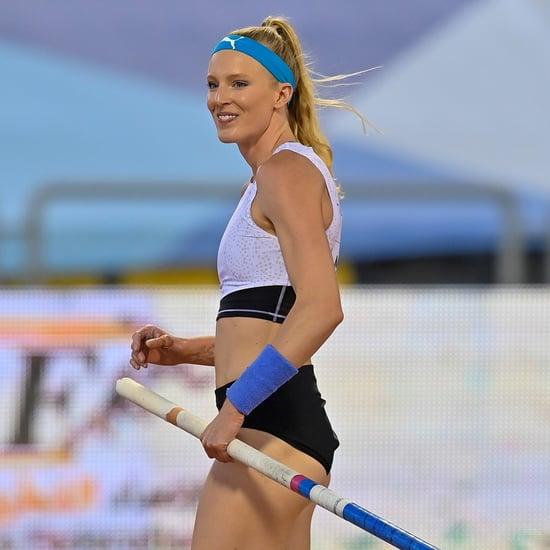 Sandi Morris Practicing Pole Vaulting Before 2021 Olympics