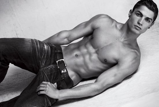 Photos of Cristiano Ronaldo in Underwear for Emporio Armani, Topless Shoot