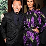 Joe Zee and Iman (in vintage Galanos) at the dinner celebrating Joan Smalls's Elle cover.