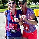 """Kiley frequently participates in races with her mother, Kathleen — another runner! On the effect running has had on Kiley, Kathleen said, """"I just can't express the change in her in a year's time."""""""