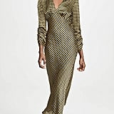 The Fifth Label Goldie Check Long Midi Dress