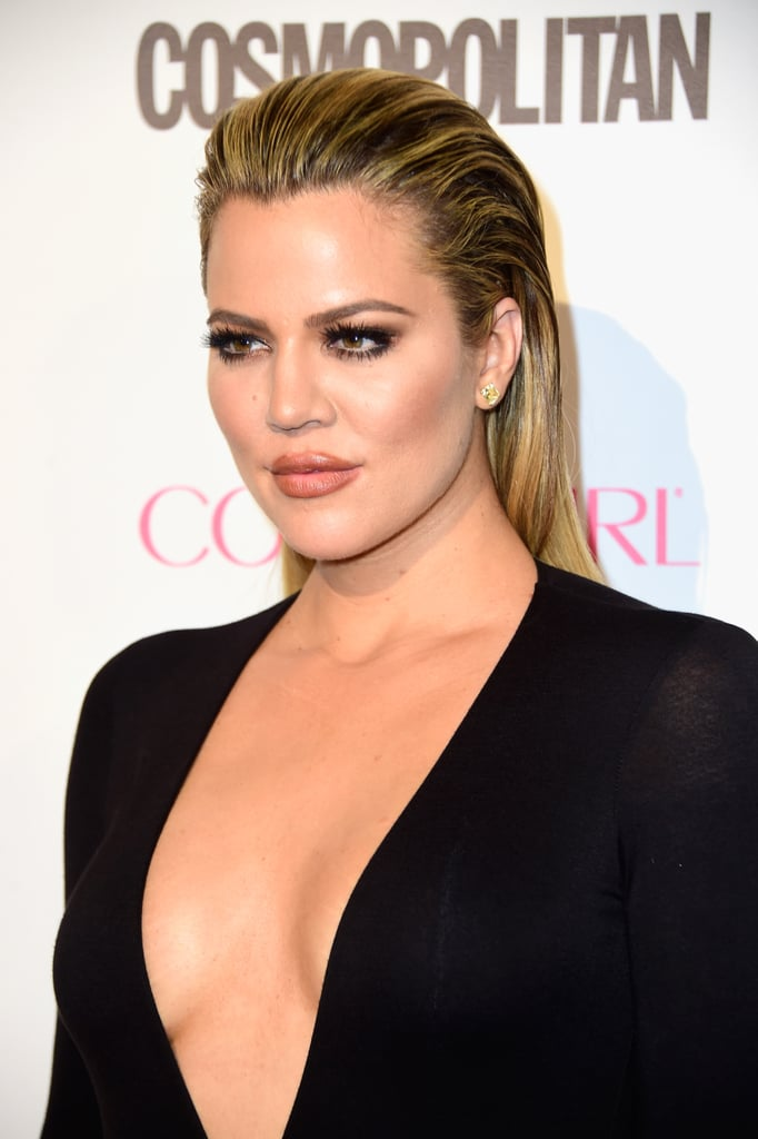 Khloe Kardashian Slicked Back hair