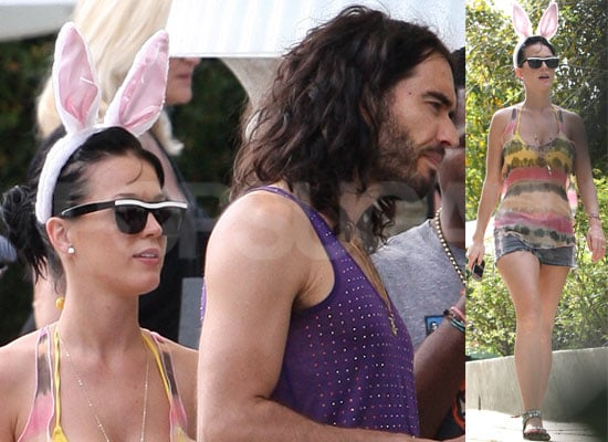 Photos of Russell Brand and Katy Perry's Easter Party