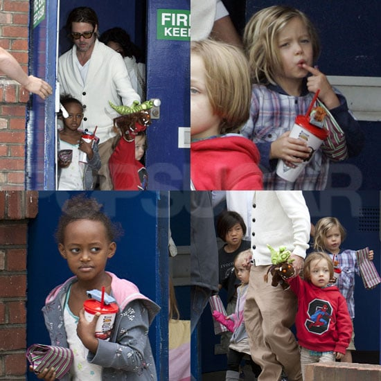 Brad Pitt Holds Hands With Knox and Vivienne Following a Movie With Pax, Zahara, and Shiloh