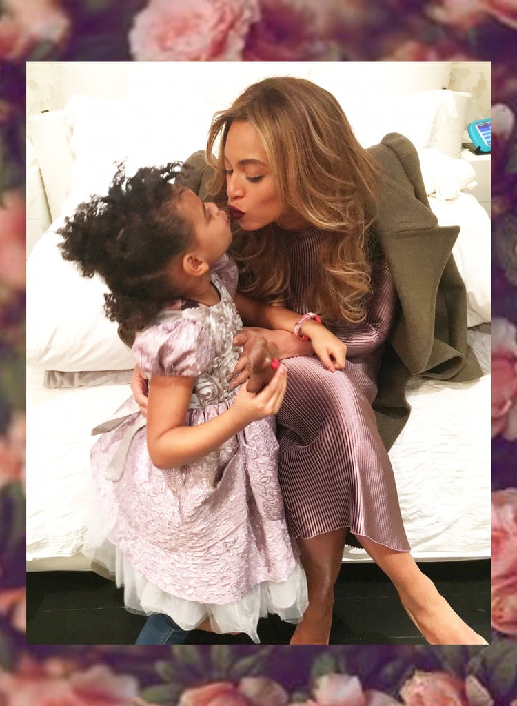 Ever since Blue Ivy Carter came into the world in 2012, Beyoncé has been pretty shy about showing her daughter's face. In the first two years of Blue's life, we mostly saw the back of her head, but over time, everything changed. After Blue took the stage with Bey and Jay Z at the 2014 MTV Video Music Awards, we started to see that sweet little face more and more. After Bey announced that she was pregnant with twins, she blessed us with even more cute photos of Blue Ivy during her gorgeous maternity shoot.      Related:                                                                                                           45 Beyoncé and Blue Ivy Moments That Will Put a Smile on Your Face and a Song in Your Heart