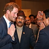 Prince Harry Visits Nepal March 2016