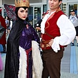 The Evil Queen (Snow White) and Gaston