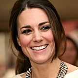 Kate Middleton stepped out in London for the premiere of Mandela: Long Walk to Freedom with her hair pulled back in a loose ponytail.