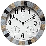 Infinity Instruments Indoor or Outdoor Round Wall Clock