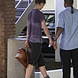 Katie Holmes worked up a sweat at the gym.
