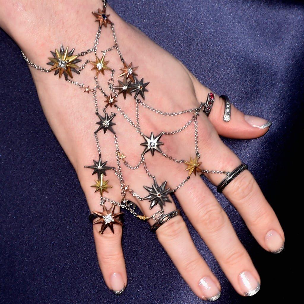 Anne Hathaway\'s French Manicure Is Not For Basic B*tches   POPSUGAR ...