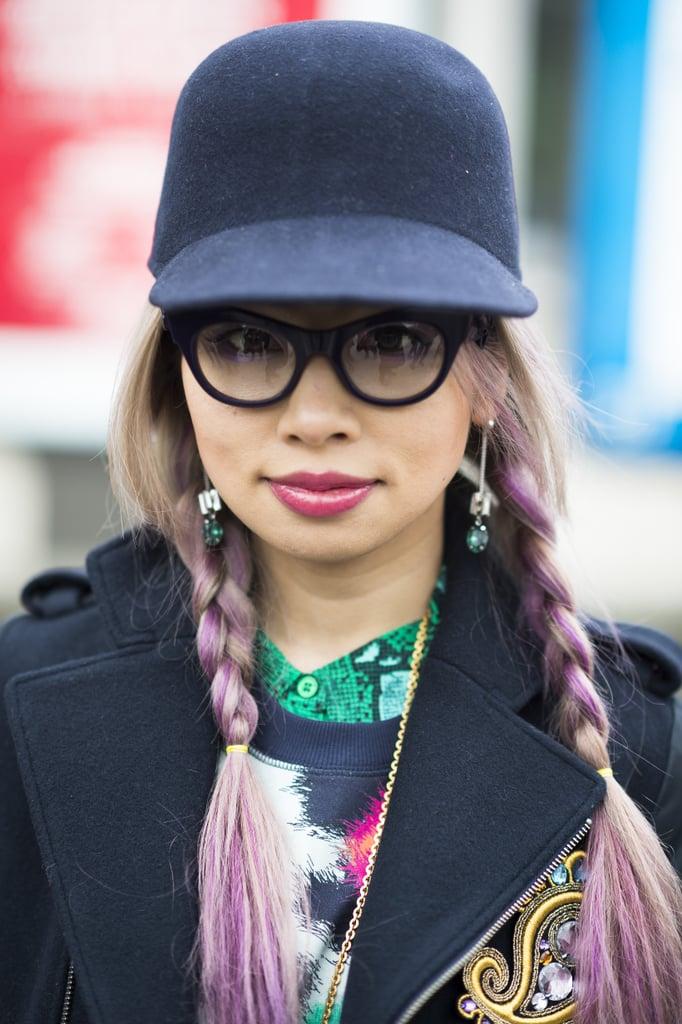 Purple pigtail braids on Marijera Hamasaki. Need we say more? Source: Le 21ème | Adam Katz Sinding