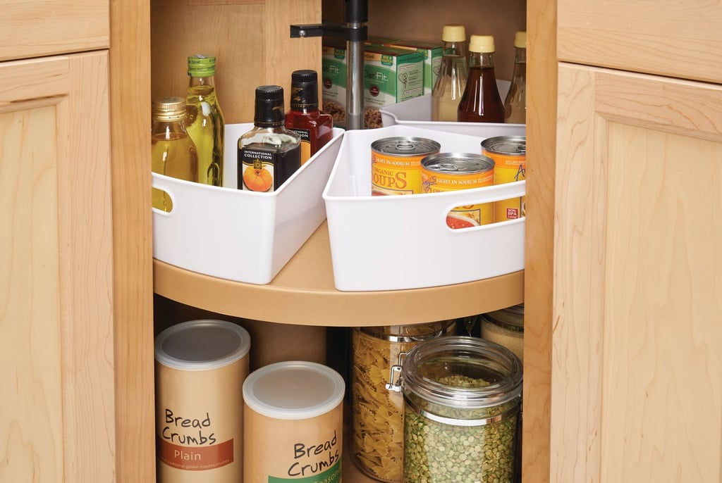 InterDesign Lazy Susan Kitchen-Cabinet Organizer Storage Bins