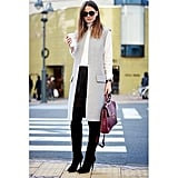 Knee-High Boots, a Long-Sleeved Top, and Duster Vest