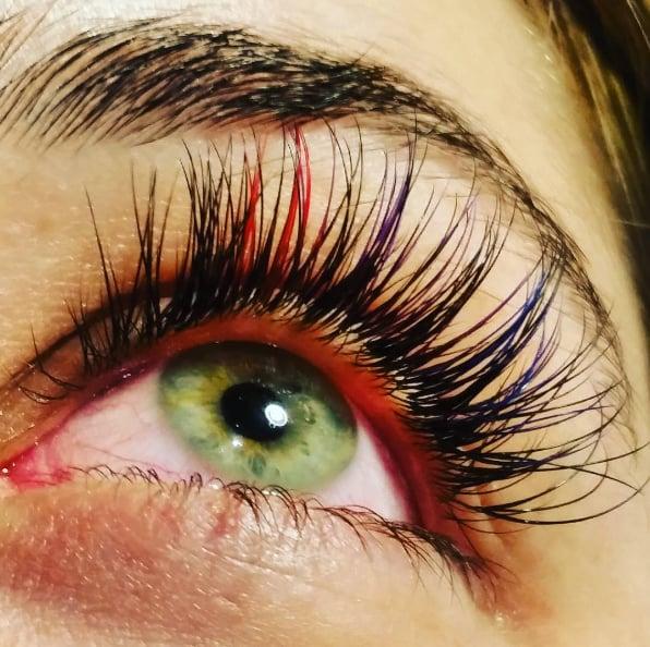 Rainbow Eyelash Trend
