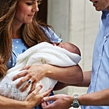 New parents Kate Middleton and Prince William had their eyes on their son as they left St. Mary's Hospital.
