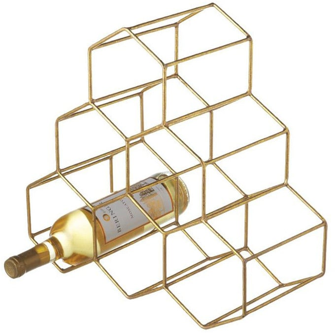 Wire Wine Rack in Gold