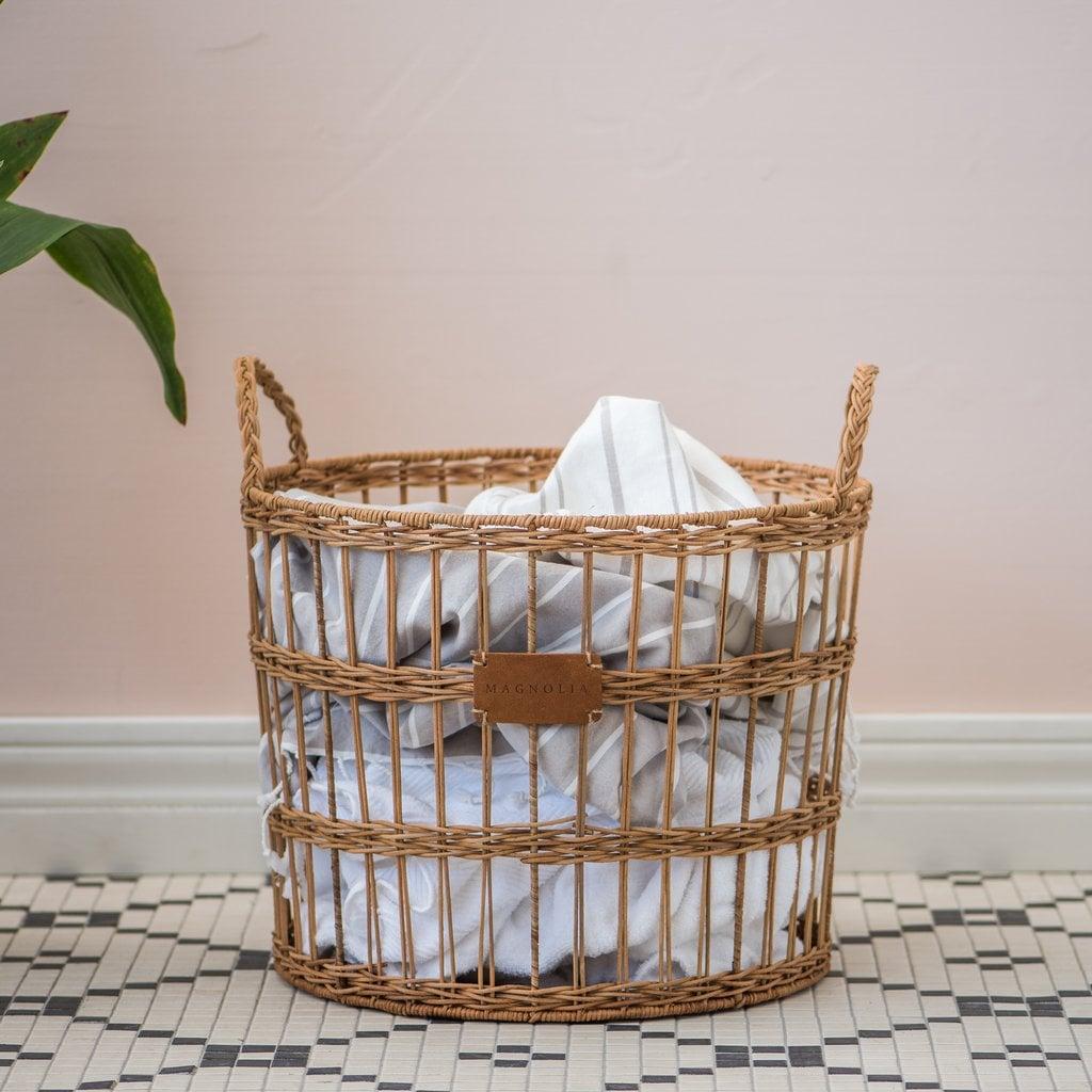 Picture of: Rattan Open Weave Scarlett Basket Magnolia Home Summer 2019 Collection Popsugar Home Australia Photo 24