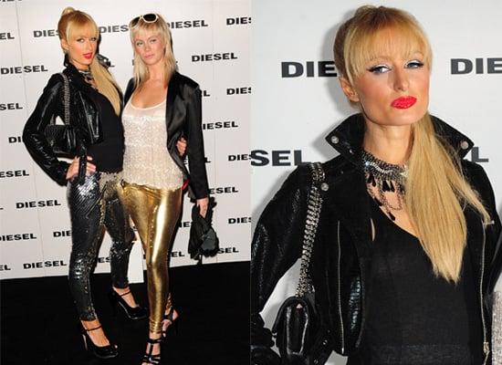 Paris Hilton at Diesel Party, Les Chiffoniers leggings,