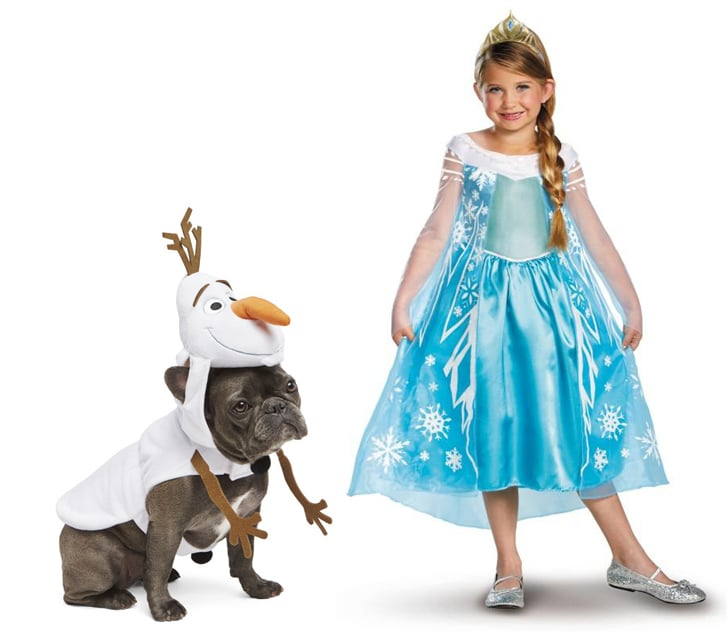 Elsa and Olaf  sc 1 st  Popsugar & Elsa and Olaf | Halloween Costumes For Kids and Their Pet Dogs ...