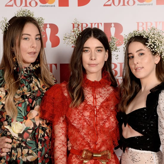 Este Haim Interrupts Cheryl and Liam Payne at Brit Awards