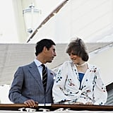 In August 1981, the newlyweds traveled the Mediterranean Sea aboard the Royal Yacht Brittania.