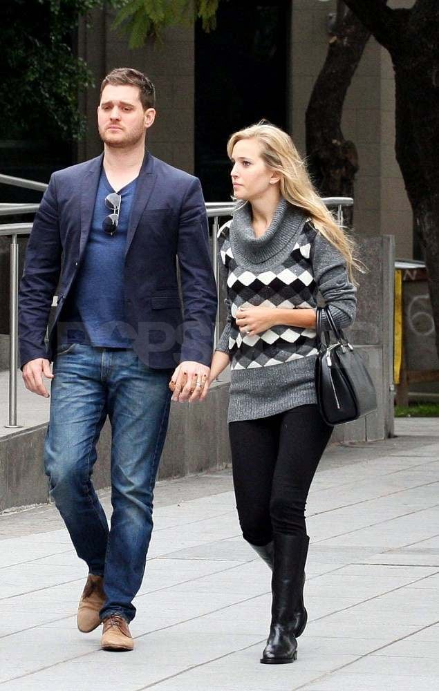 Michael Bublé and Luisana Lopilato in Buenos Aires.