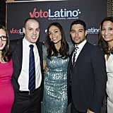 Rosario Dawson and Wilmer Valderrama posed for pictures with various guests during the Voto Latino Inauguration celebration.