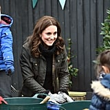 She Showed Off Her Green Thumb During a London School Visit