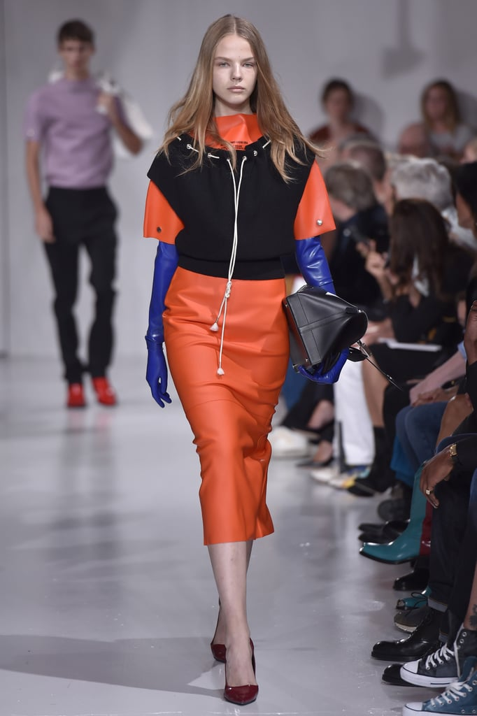 Orange at Calvin Klein Spring 2018