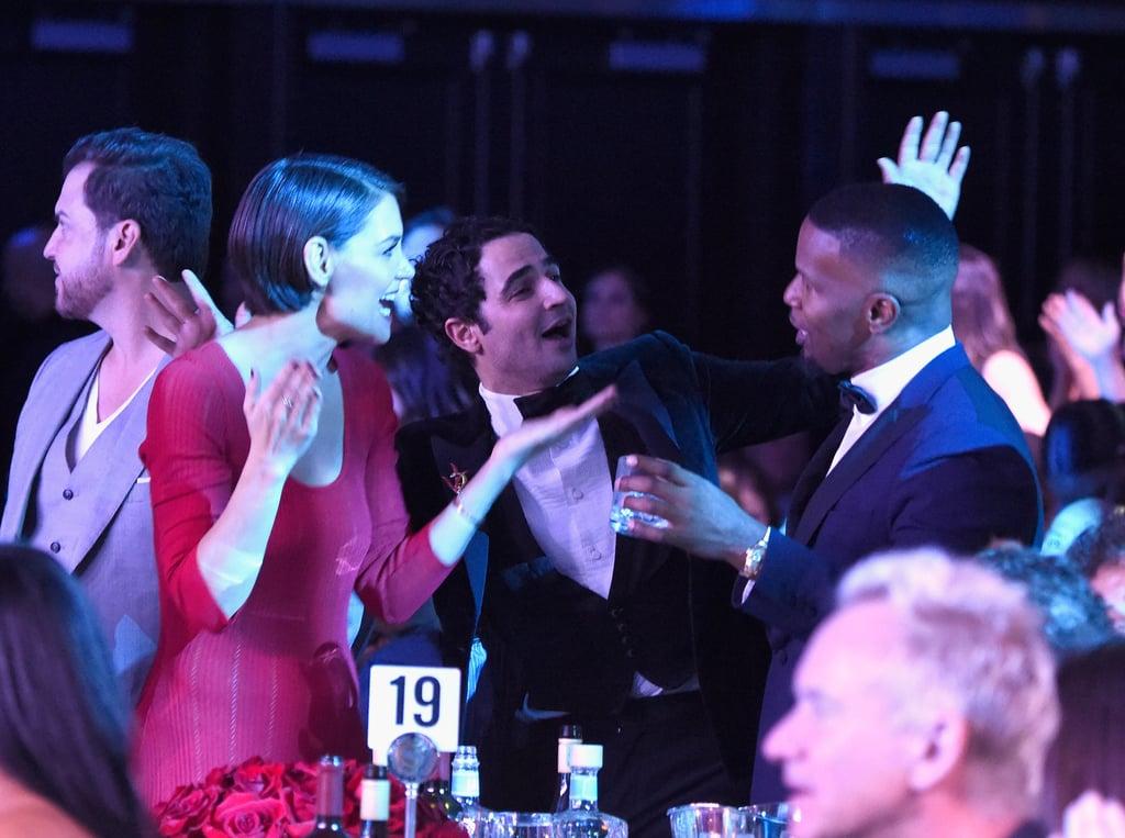 Jamie Foxx and Katie Holmes at Clive Davis Pre-Grammy Party