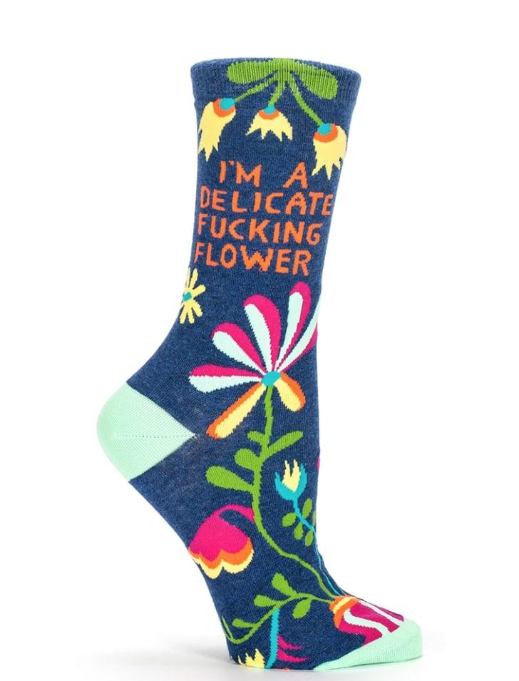 Delicate F*cking Flower Crew Socks | 20+ Pairs of ...