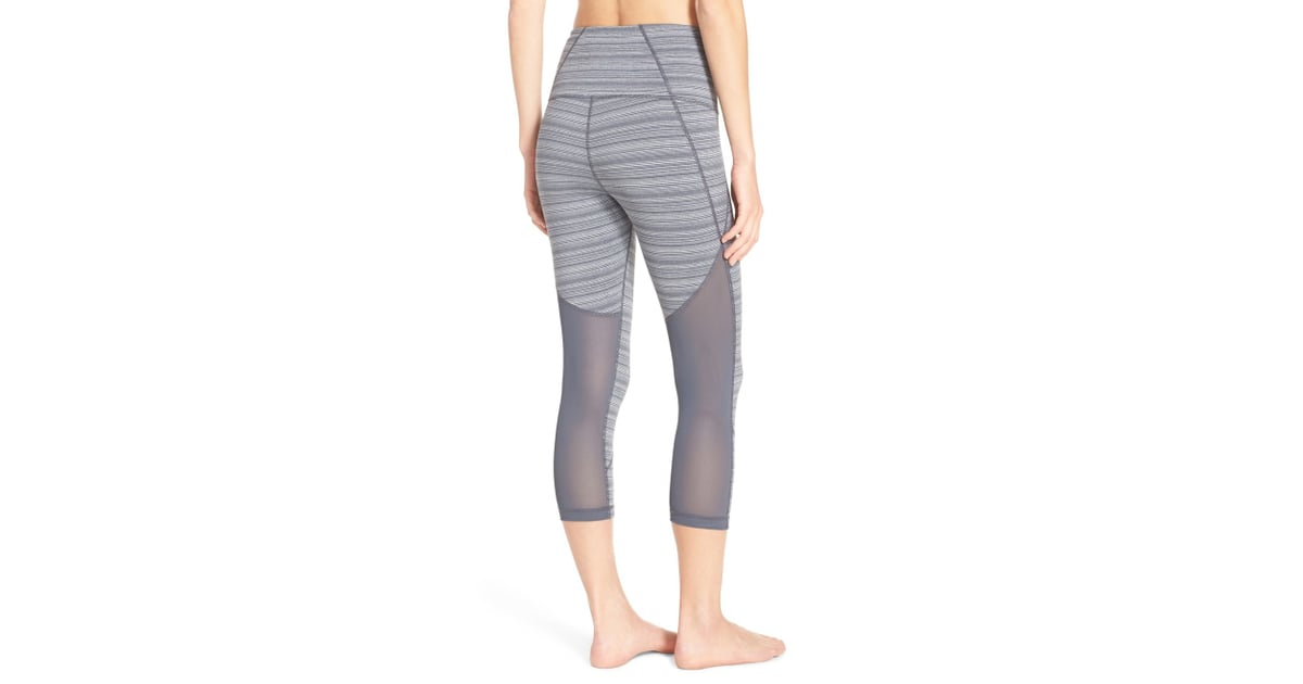 4cbc897c6b3be8 Zella 'Live In — Sultry' High Waist Mesh Crop Leggings ($37,   Mesh ...