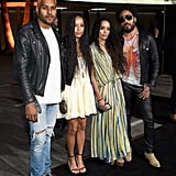 Pictured: Lenny Kravitz, Lisa Bonet, Zoë Kravitz, and Twin Shadow