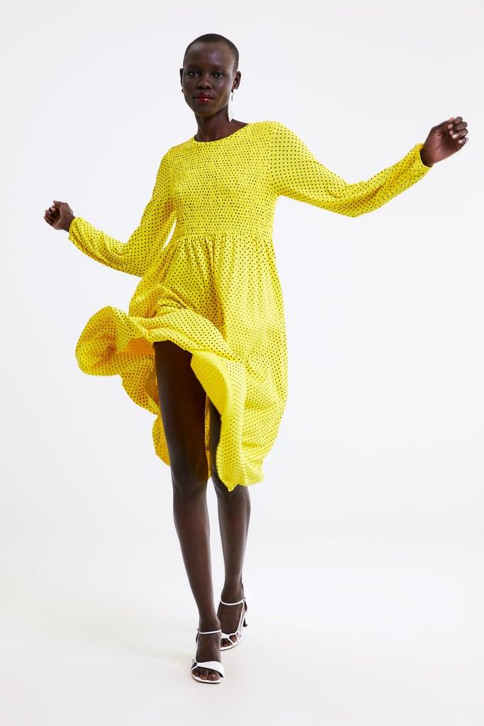 db38f1ca Zara Polka Dot Print Dress | Best Things at Zara March 2019 ...
