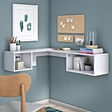 Chaves L-Shape Floating desk with Hutch