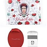 Frida Kahlo Highlighting Beauty Brush Set with Cleaning Pad and Cosmetic Case