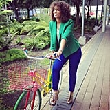 Alicia Keys went for a fashionable spin.  Source: Instagram user aliciakeys