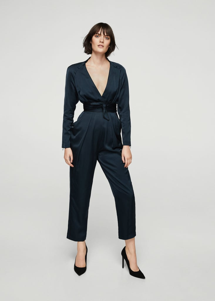 Mango Satin Jumpsuit