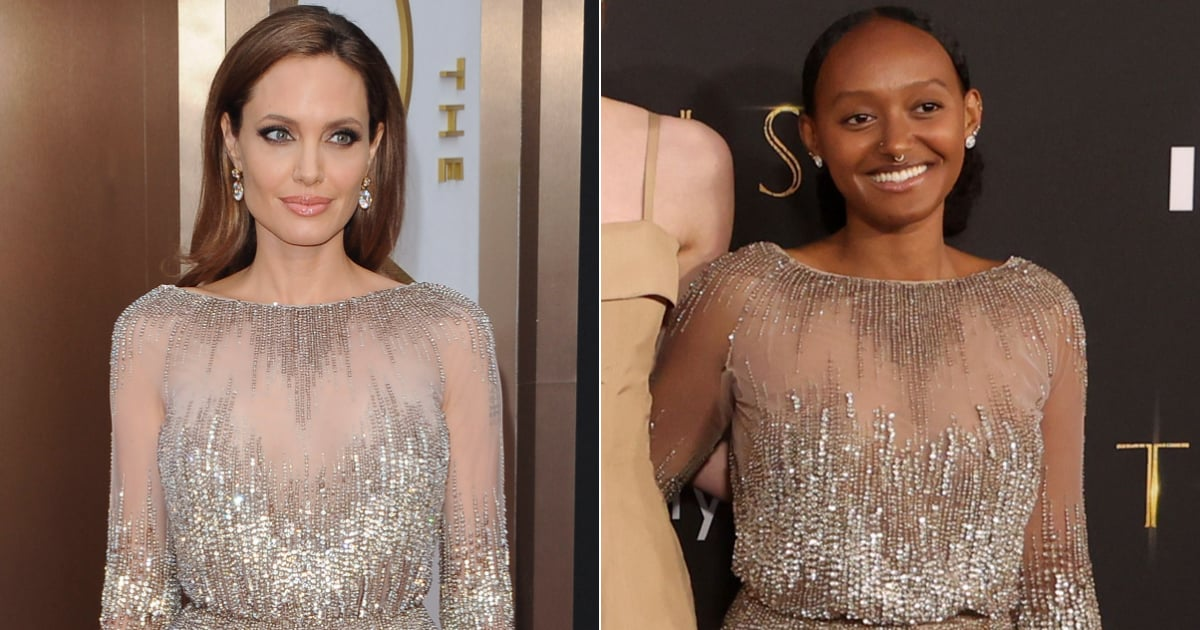 Angelina Jolie's Daughter Zahara Wears Her Mom's 2014 Oscars Dress to the Eternals Premiere.jpg