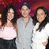 With Eliza Doolittle and Michelle Rodriguez at the Audi Polo Challenge in 2014.