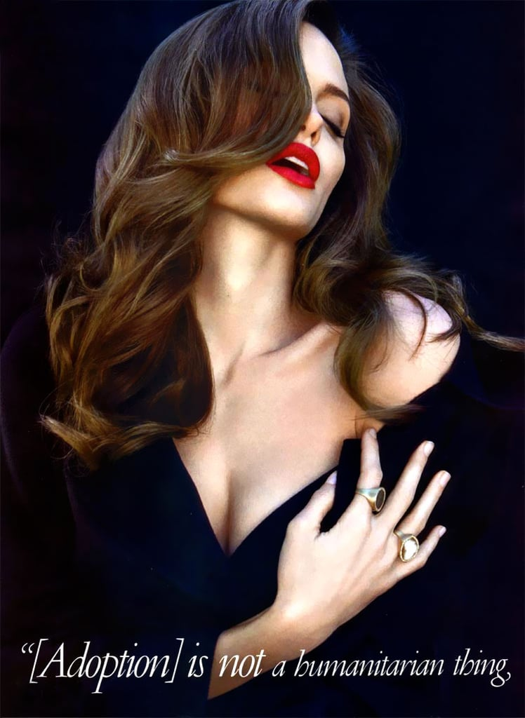 Angelina Jolie was captured in a seductive pose for her August 2008 Vanity Fair spread.